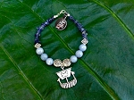 Angelite & Iolite Viking Ship Bracelet