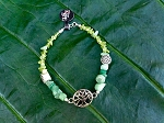 Adventurine & Perido Tree of Life Bracelet