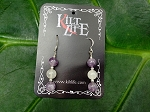 Amethyst & Rose Quarts Earrings