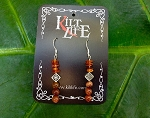 Goldstone & Amber Earrings