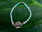 Amazonite & Apatite Tree of Life Bracelet