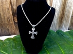 Celtic Black Cross Necklace