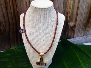Ram Thor Hammer Braided Necklace